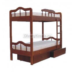 Двухъярусная кровать Мальвина